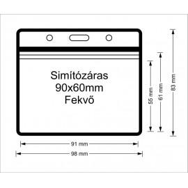 Simítózáras vinyl tasak (90x60mm)