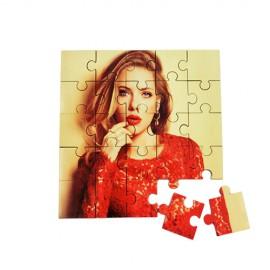 MDF puzzle 17x17cm méretben, egyedi fényképpel, felirattal