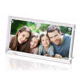 Üveg asztali kép 390x290x10mm, egyedi fényképpel, felirattal
