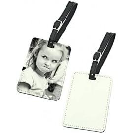 Bőrönd címke, egyedi fényképpel, felirattal