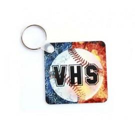 HPP négyzet kulcstartó, egyedi fényképpel, felirattal