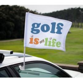 Autós zászló, egyedi fényképpel, felirattal