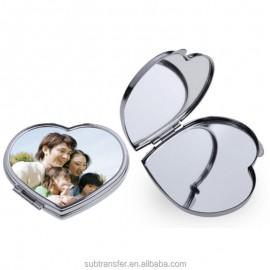 Sminkes tükör (szív), egyedi fényképpel, felirattal