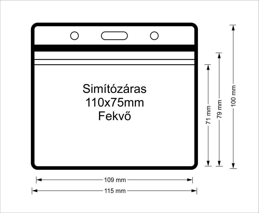 Simítózáras vinyl tasak (fekvő, 110x75mm)
