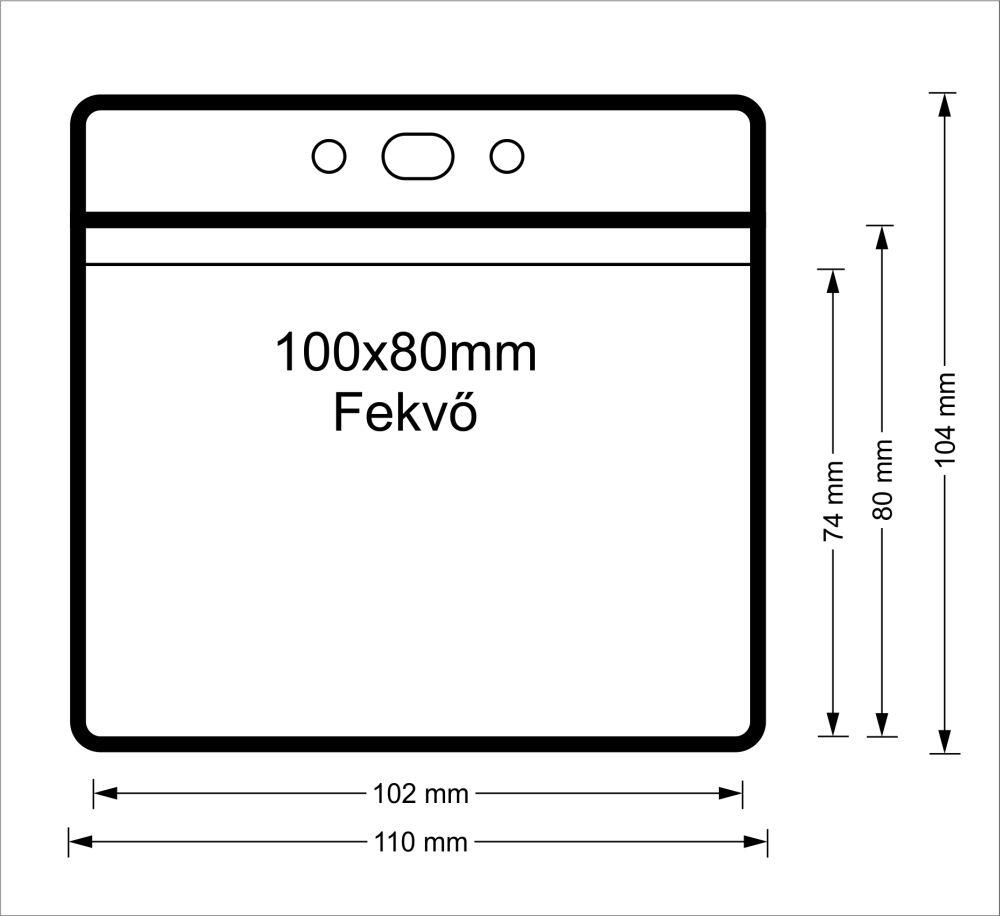 Vinyl tasak (fekvő, 100x80mm)