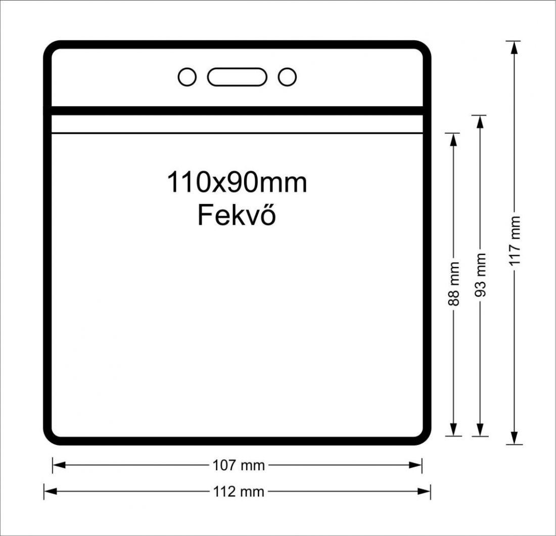 Vinyl tasak (fekvő, 110x90mm)