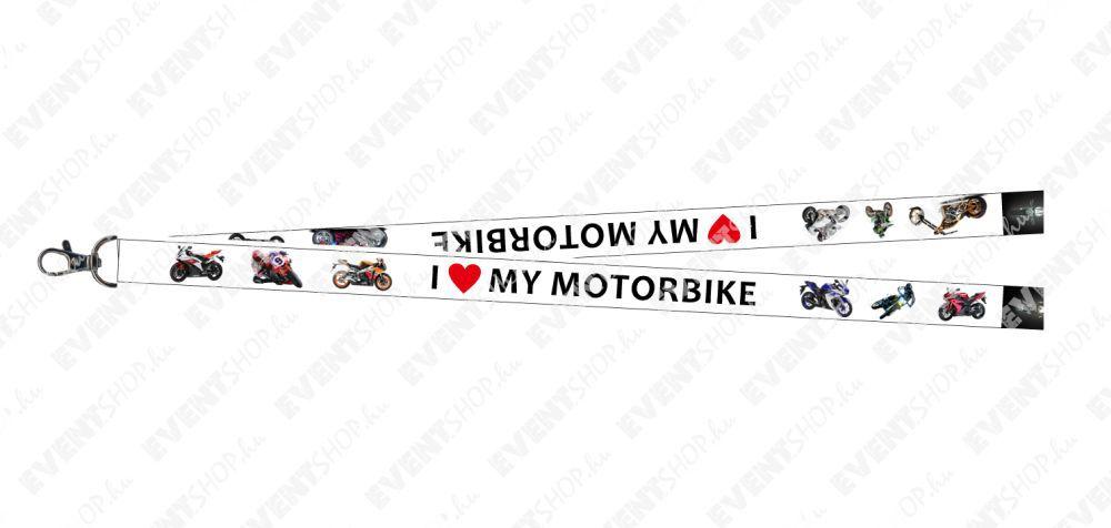 I love my motorbike nyakpánt