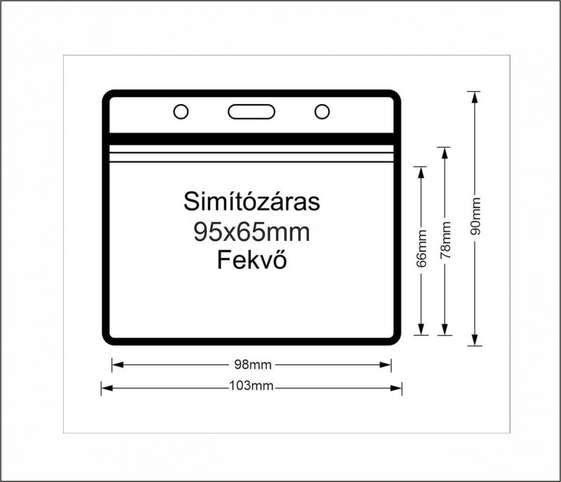 Simítózáras vinyl tasak (fekvő, 95x65mm)