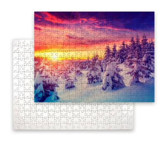 Puzzle 40x29cm méretben, egyedi fényképpel, felirattal