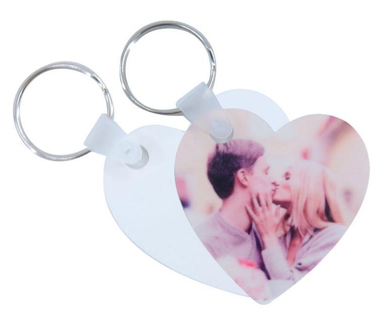 HPP szív kulcstartó, egyedi fényképpel, felirattal