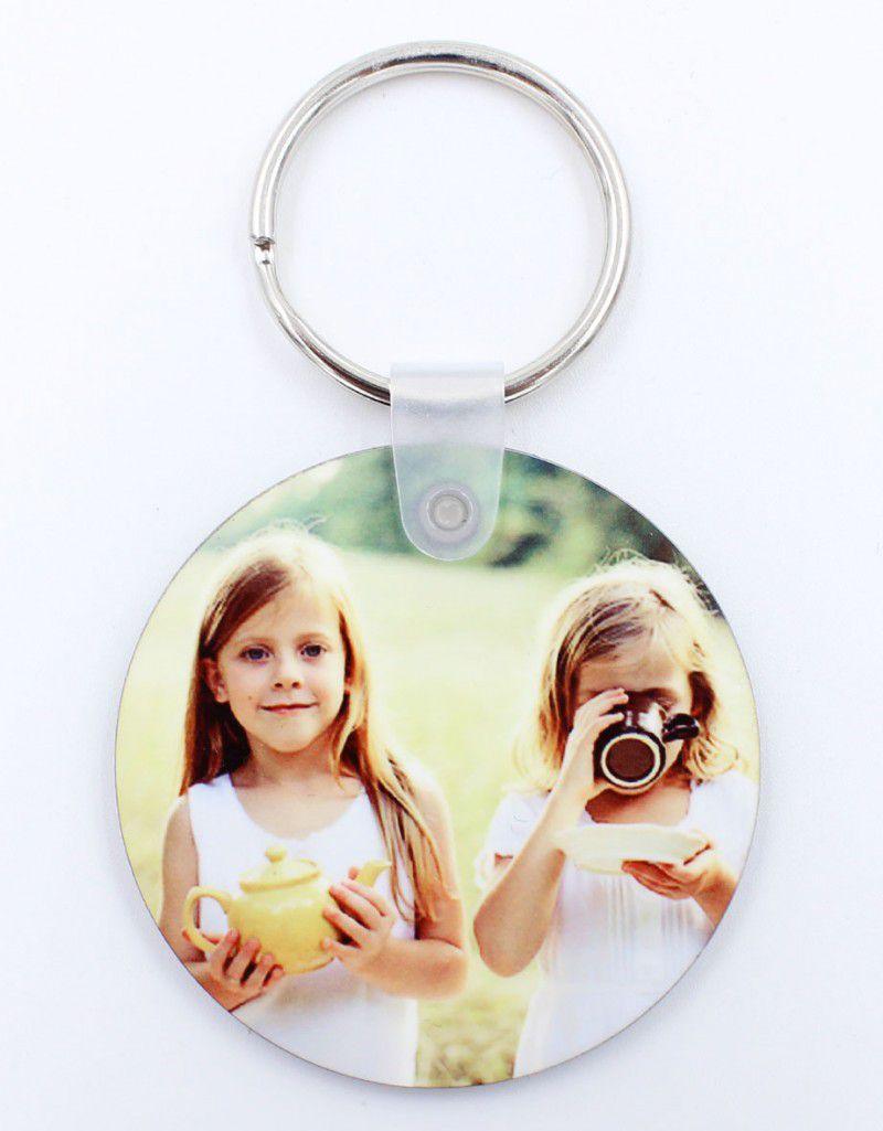 HPP kör kulcstartó, egyedi fényképpel, felirattal