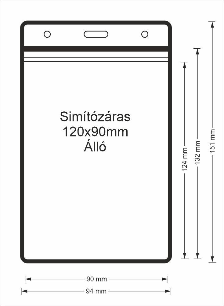 Simítózáras vinyl tasak (álló, 120x90mm)