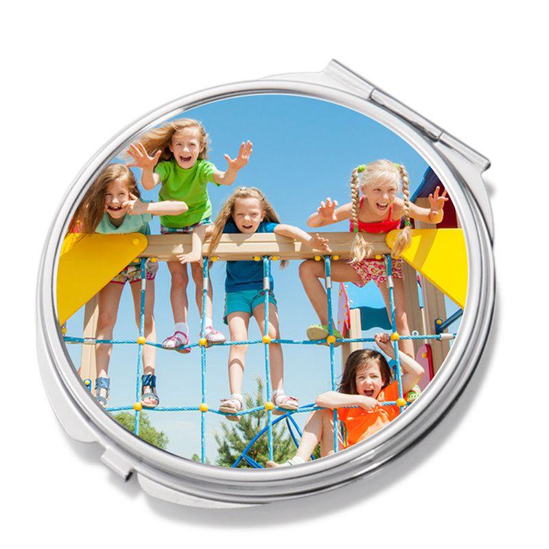 Sminkes tükör (kerek), egyedi fényképpel, felirattal