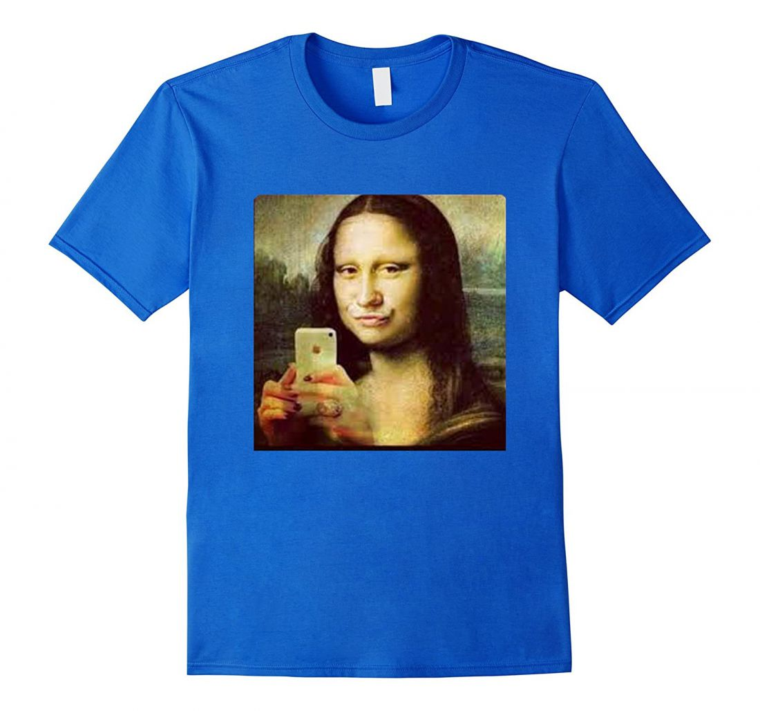 Kék póló A4 méretű, egyedi fényképpel, felirattal