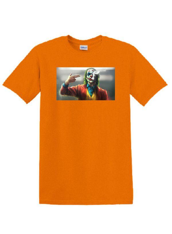 Narancs póló A3 méretű, egyedi fényképpel, felirattal