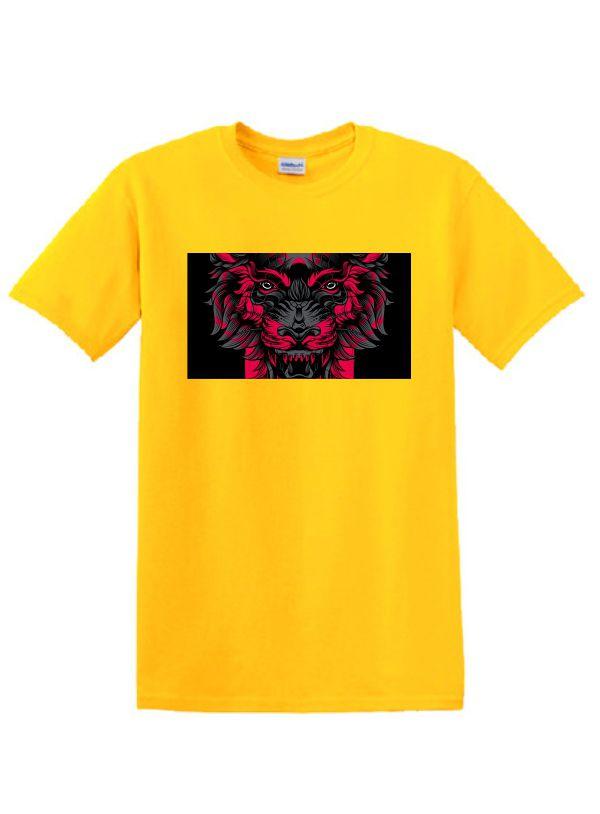 Sárga póló A4 méretű, egyedi fényképpel, felirattal