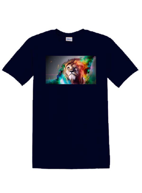 Sötétkék póló A3 méretű, egyedi fényképpel, felirattal (új)